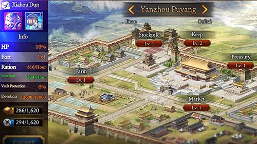 Onlinespiele Romance of the three kingdoms: The legend of Cao Cao für das Smartphone
