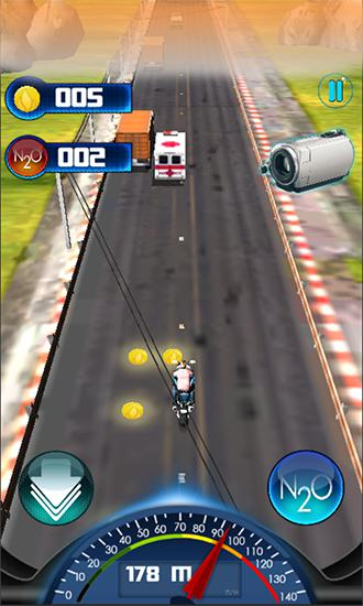 Track racing games Super moto GP rush in English