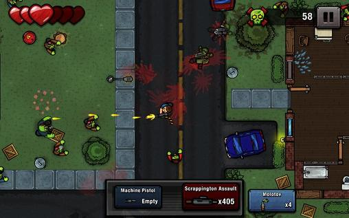 Arcade Zombie scrapper für das Smartphone