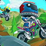 Moto trial racing Symbol