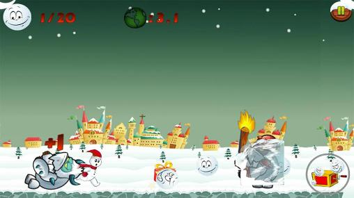 Laufspiele Snowman run auf Deutsch