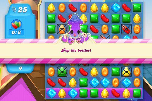 截图Candy crush: Soda saga在iPhone