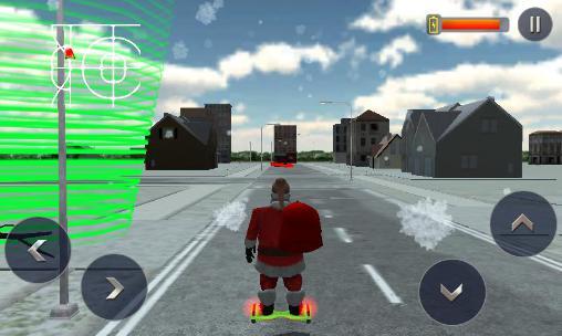 Simulator-Spiele Hoverboard rider 3D: Santa Xmas für das Smartphone