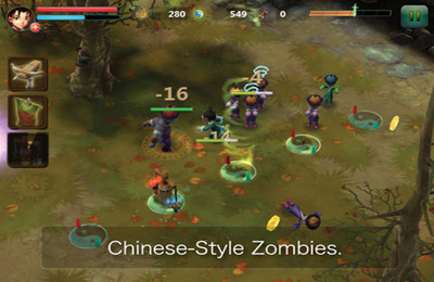 Captura de tela Os Zumbis Chineses no iPhone