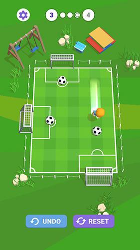 Football Slide goal hero in English