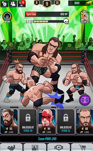 WWE tap mania for Android