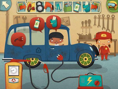 Mon poste amusant de travail: Atelier de réparation d'automobiles en russe