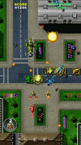 Arcade-Spiele Twin cobra für das Smartphone