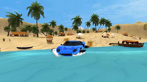Rennspiele Water surfer car driving für das Smartphone