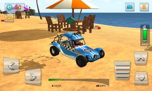 Buggy stunts 3D: Beach mania captura de tela 1