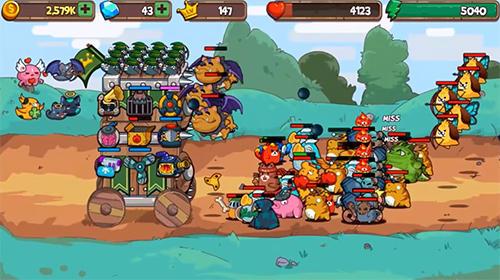 Cat'n'robot: Idle defense. Cute castle TD game Screenshot