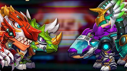 Jogos de arcade Dino battle: The beginning of the warpara smartphone