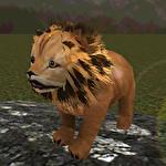 Real lion cub simulator Symbol
