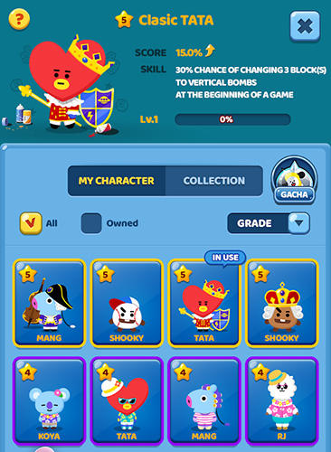 Puzzle star BT21 in English
