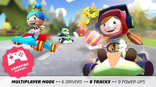 Arcade: Lade Kart König 3D: Lustiges Rennen auf dein Handy herunter