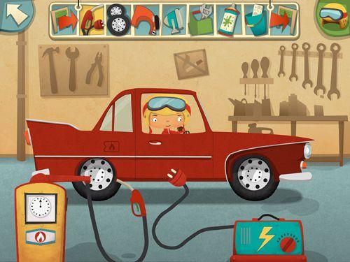 Mon poste amusant de travail: Atelier de réparation d'automobiles