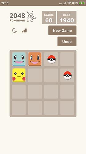 Logik 2048 Pokemons für das Smartphone