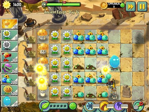 Screenshot Plants vs. zombies 2: Big wave beach on iPhone