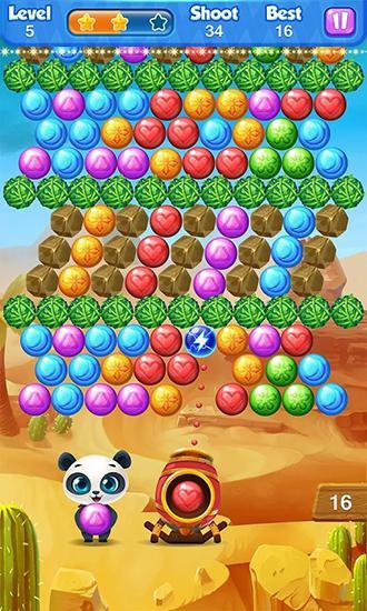 Arcade Bubble panda für das Smartphone