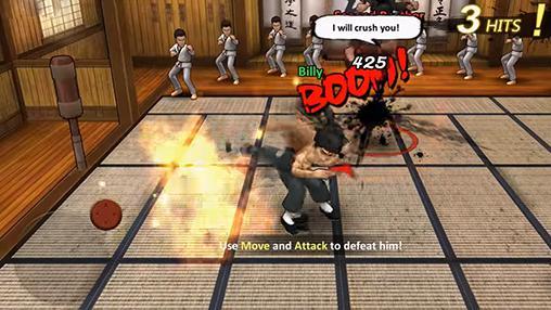 Kämpfen Kung fu all-star für das Smartphone