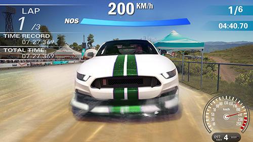 Crazy racing car 3D captura de pantalla 1
