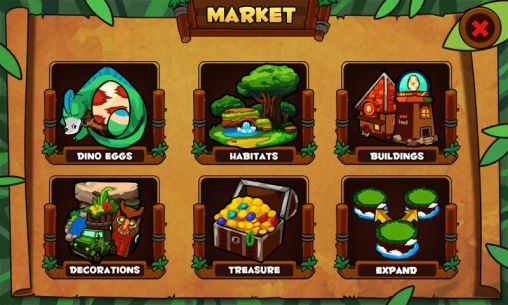 Economic strategy games Dinosaur island in English