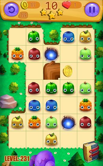 3 Gewinnt-Spiele Juicy blast: Fruit saga auf Deutsch