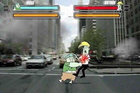 Screenshot Straßen Zombie Kämpfer auf dem iPhone