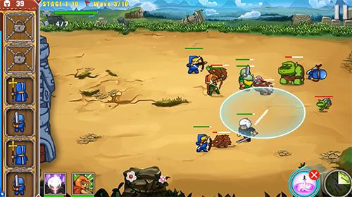 Strategie Frontier warriors. Castle defense: Grow army für das Smartphone