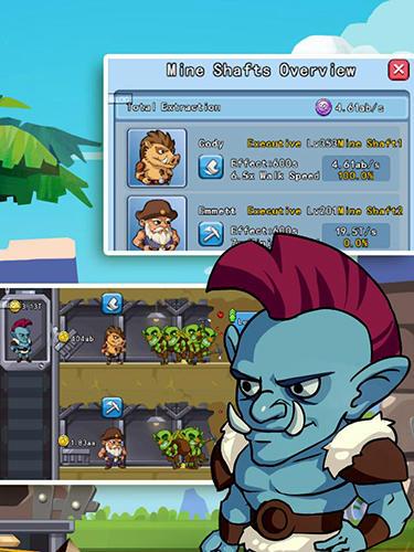 Arcade Idle goblin miner world für das Smartphone