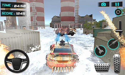 Snow buggy car death race 3D Screenshot