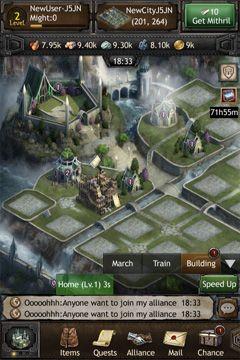 Screenshot Die Hobbits: Königreich von Mittelerde auf dem iPhone