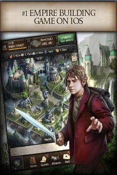 Multiplayerspiele: Lade Die Hobbits: Königreich von Mittelerde auf dein Handy herunter