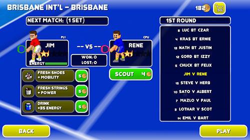 Arcade-Spiele Tennis champs returns für das Smartphone