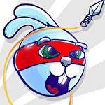 Rabbit samurai: Rope swing hero Symbol