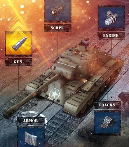 Onlinespiele Storm of steel: Tank commander für das Smartphone
