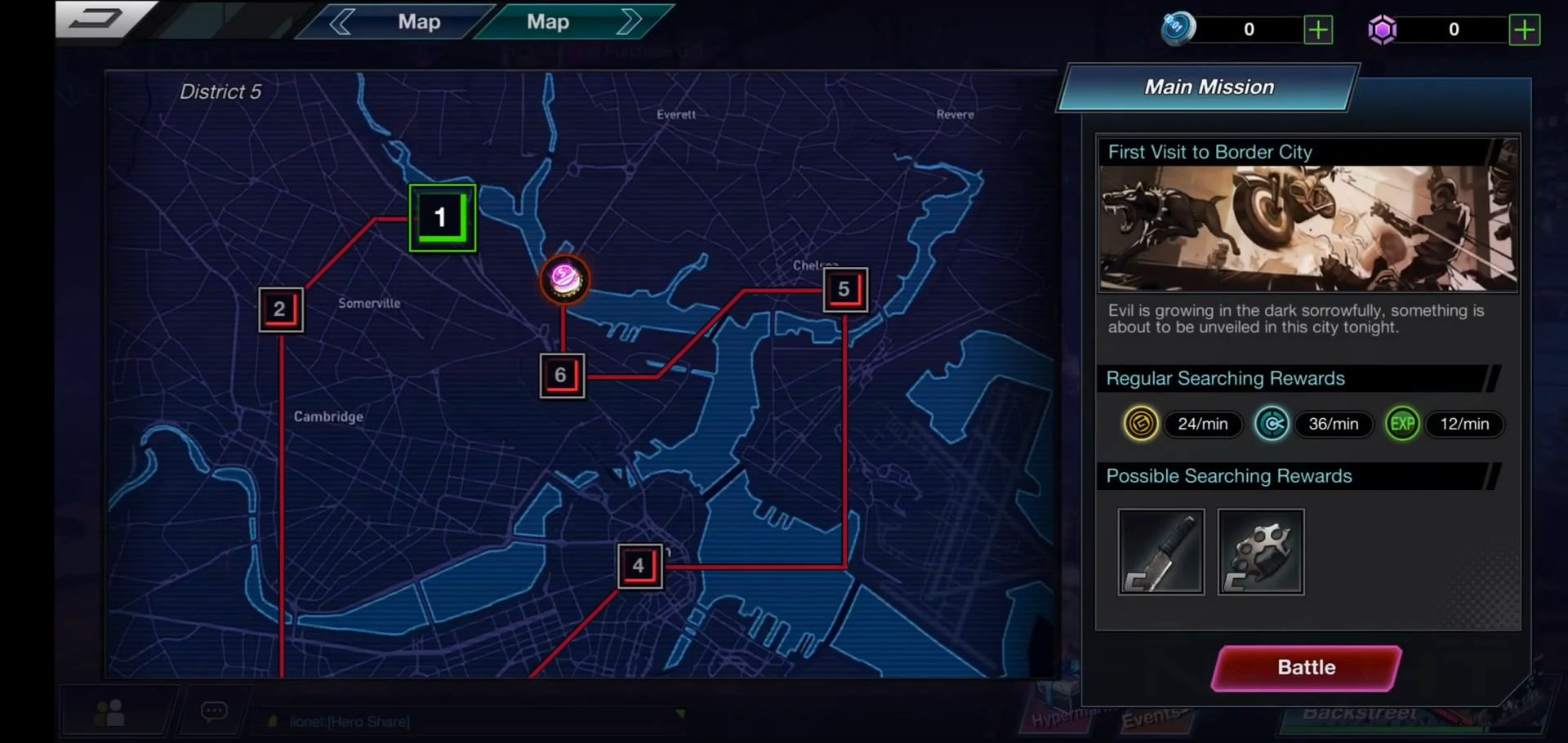 Battle Night: Cyber Squad-Idle RPG captura de pantalla 1