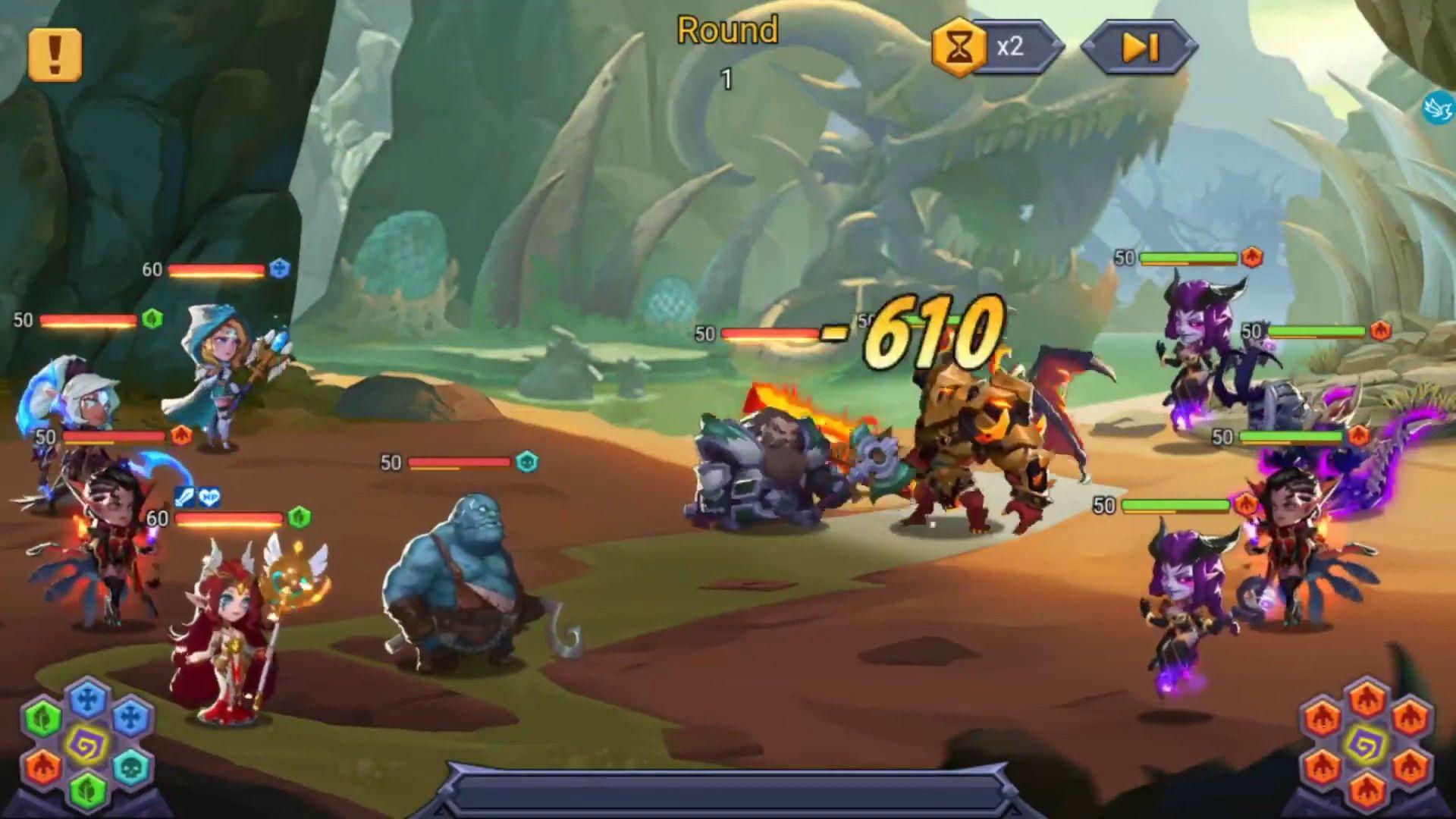 Tap Heroes: Clicker War captura de pantalla 1