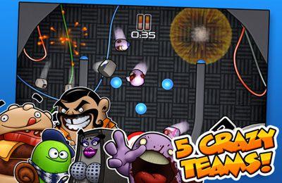 Screenshot Kumpels über´s Spielfeld schnippsen auf dem iPhone