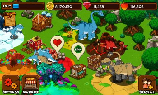 Strategy games Dinosaur island for smartphone