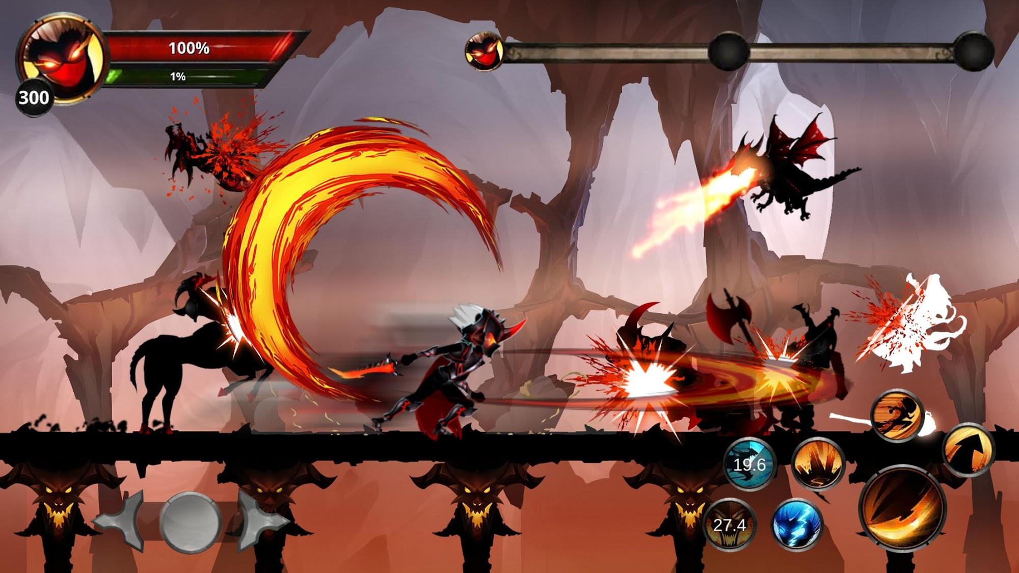 Stickman Legends: Shadow War Offline Fighting Game captura de pantalla 1