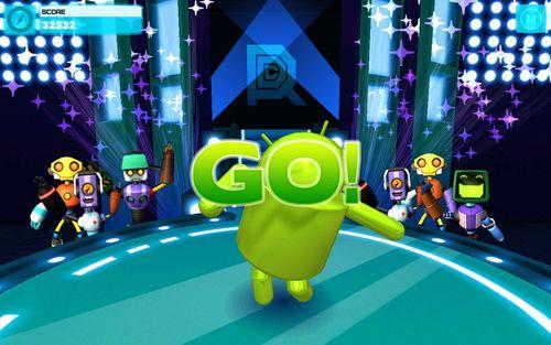 Soirée de danse des robots en russe