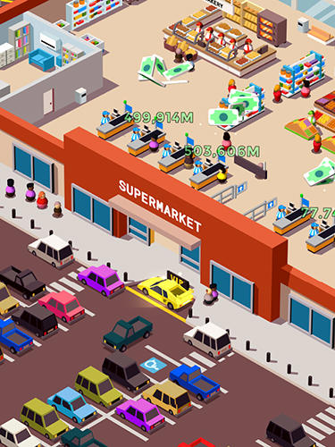 Idle supermarket tycoon: Shop en español