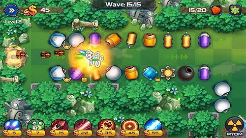 Strategie Tower defense: Battle zone für das Smartphone
