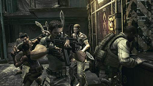Shooter games Resident evil 5 for smartphone