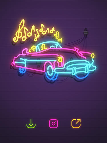 Neon it! 3D light art puzzle for Android
