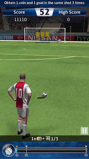 UEFA champions league: PES flick. Pro evolution soccer captura de pantalla 1