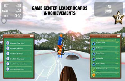 Скріншот Crazy Snowboard на iPhone