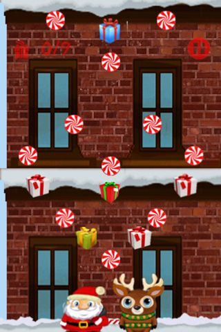 Screenshot Kletternder Santa auf dem iPhone