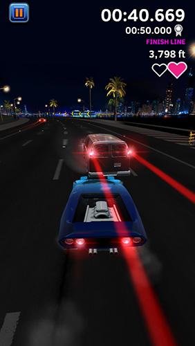 Rennspiele Night driver für das Smartphone